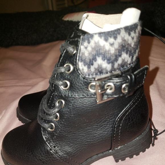 ad71b8427eda New okie dokie little girls black boots size 6